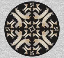 Fox Jaw Bone Mandala by Alejandro Cuadra