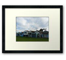 Beach Houses, Campbells Cove Framed Print