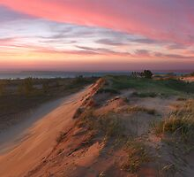 Sleeping Bear Dunes Sunset by Robert deJonge