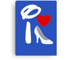 I Heart Cinderella (Inverted) Canvas Print