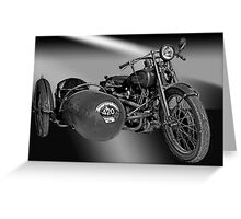 Harley Davidson Eight Valve Greeting Card