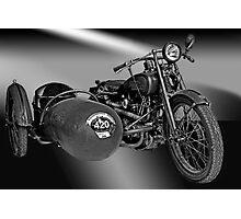 Harley Davidson Eight Valve Photographic Print