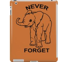 Baby Elephant Never Forget Funny TShirt Epic T-shirt Humor Tees Cool Tee iPad Case/Skin