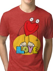 """Valentines Day """"Love"""" Funny Tri-blend T-Shirt"""
