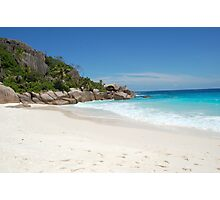 white sand in Seychelles Photographic Print