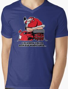 Bad Santa Funny TShirt Epic T-shirt Humor Tees Cool Tee Mens V-Neck T-Shirt