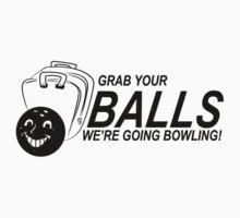 Balls Bowling Funny TShirt Epic T-shirt Humor Tees Cool Tee by maikel38