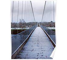 Footprints over  the bridge, Kings Caple, Herefordshire Poster