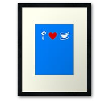 I Heart Tea Cups (Classic Logo) (Inverted) Framed Print