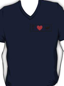 I Heart Tea Cups (Classic Logo) T-Shirt