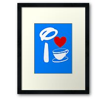 I Heart Tea Cups (Inverted)  Framed Print