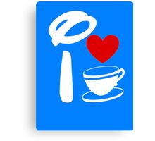 I Heart Tea Cups (Inverted)  Canvas Print