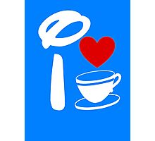 I Heart Tea Cups (Inverted)  Photographic Print