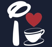 I Heart Tea Cups (Inverted)  Kids Clothes