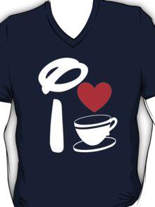 I Heart Tea Cups (Inverted)  T-Shirt