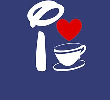 I Heart Tea Cups (Inverted)  Unisex T-Shirt
