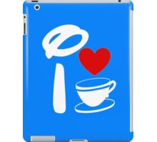 I Heart Tea Cups (Inverted)  iPad Case/Skin