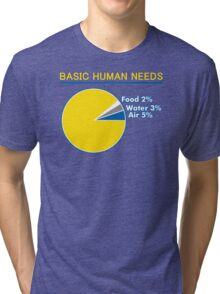 Basic Human Needs Funny TShirt Epic T-shirt Humor Tees Cool Tee Tri-blend T-Shirt