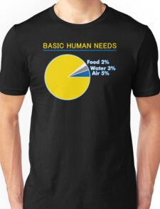 Basic Human Needs Funny TShirt Epic T-shirt Humor Tees Cool Tee Unisex T-Shirt