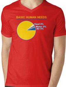 Basic Human Needs Funny TShirt Epic T-shirt Humor Tees Cool Tee Mens V-Neck T-Shirt
