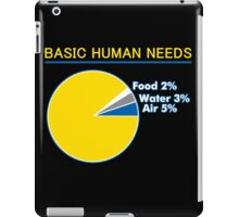 Basic Human Needs Funny TShirt Epic T-shirt Humor Tees Cool Tee iPad Case/Skin