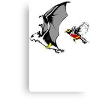 Bat And Robin Funny TShirt Epic T-shirt Humor Tees Cool Tee Canvas Print