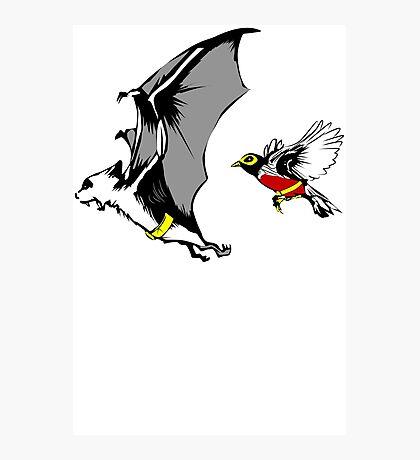 Bat And Robin Funny TShirt Epic T-shirt Humor Tees Cool Tee Photographic Print