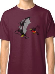 Bat And Robin Funny TShirt Epic T-shirt Humor Tees Cool Tee Classic T-Shirt