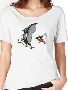 Bat And Robin Funny TShirt Epic T-shirt Humor Tees Cool Tee Women's Relaxed Fit T-Shirt