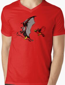Bat And Robin Funny TShirt Epic T-shirt Humor Tees Cool Tee Mens V-Neck T-Shirt