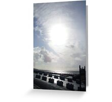 Cloudy sun in Kerry. Greeting Card