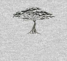 Whistling Thorn , Zen Bonsai African Tree Black and White T-Shirt