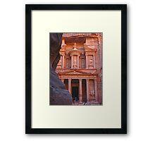 Treasury. Petra. Jordan. Framed Print