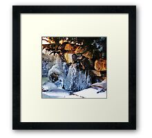Freezing Framed Print