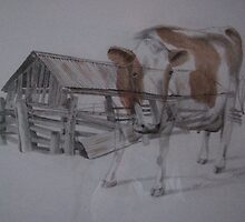 Done Milking by Bob  Thompson