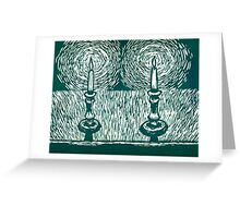 Two candles in a bathtub Greeting Card