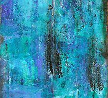Blue-black monoprinting by Rosie Rowe