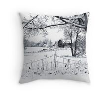 Stopping by the side of the road Throw Pillow