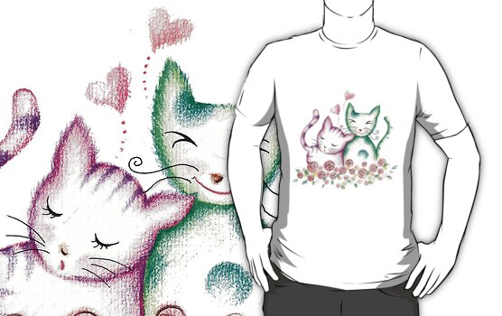 Valentine's Day Cats by HolidayT-Shirts