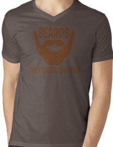 Beards They Grow On You Funny TShirt Epic T-shirt Humor Tees Cool Tee Mens V-Neck T-Shirt