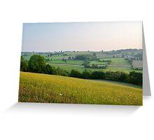 a desolate Belgium landscape Greeting Card