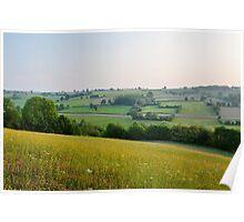 a desolate Belgium landscape Poster