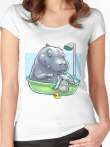 Hippo Bath Women's Fitted Scoop T-Shirt
