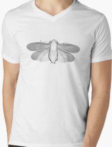 White Moth Mens V-Neck T-Shirt