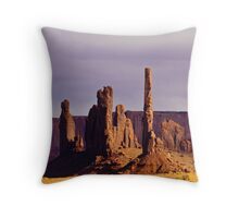 Totem Pole and Yei Bi Chei Throw Pillow