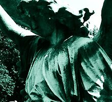 Green Angel Gravestone by SylviaS