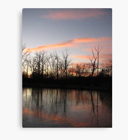 Freezing The Sunset Canvas Print