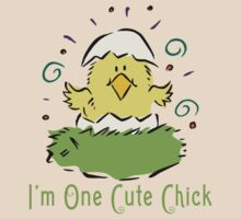 "Easter Chick ""I'm One Cute Chick"" by HolidayT-Shirts"