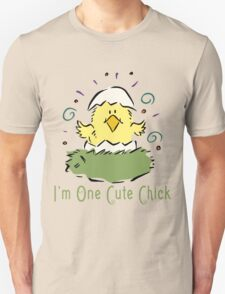 "Easter Chick ""I'm One Cute Chick"" T-Shirt"