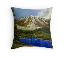 mountain serenity Throw Pillow